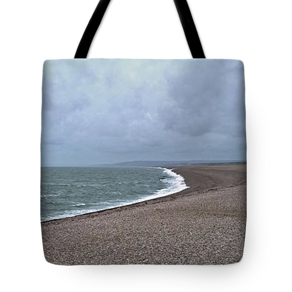 Chesil Beach November 2013 Tote Bag by Anne Kotan
