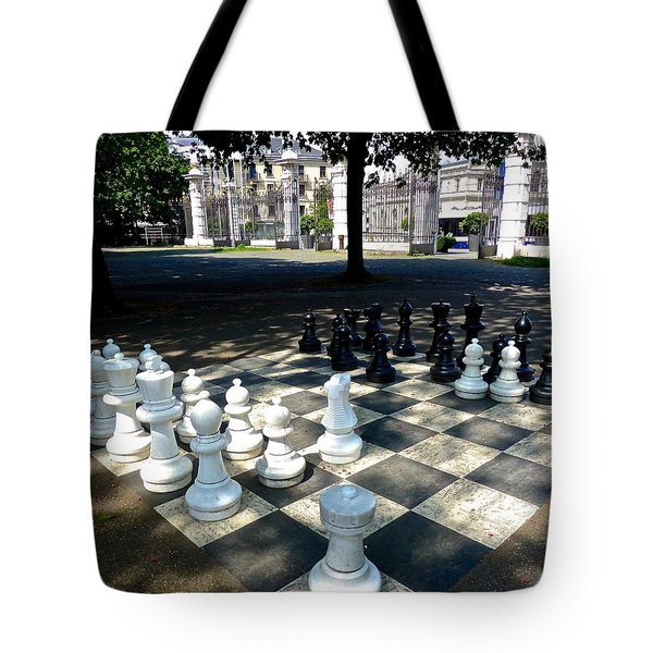 Chess At Bastion Park Switzerland Tote Bag
