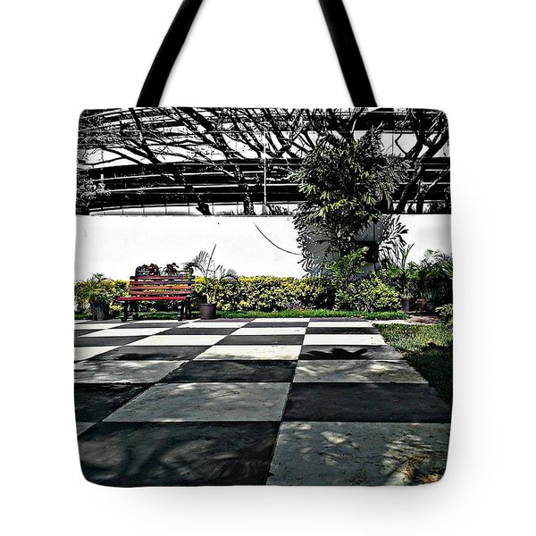Chess Floor Tote Bag