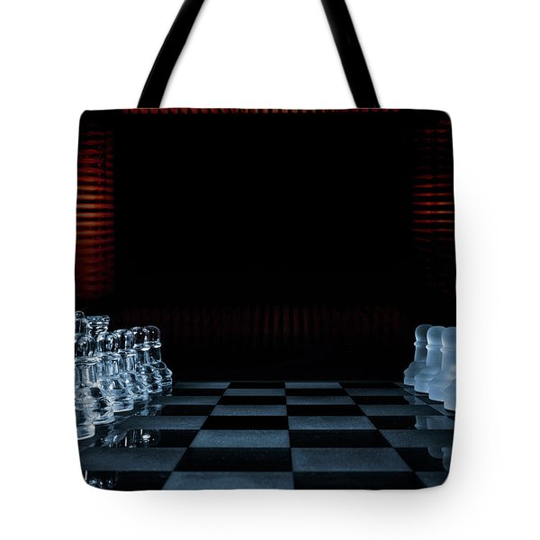 Chess Game Performed By Artificial Intelligence Tote Bag