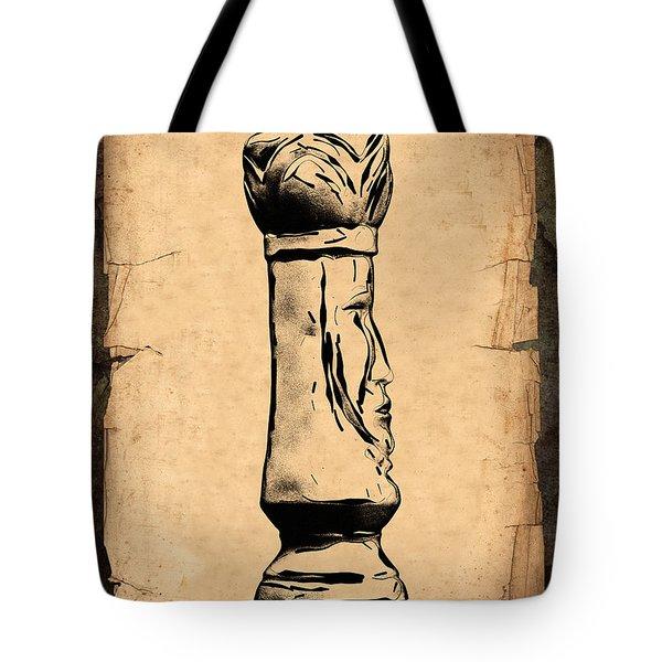 Chess King Tote Bag by Tom Mc Nemar