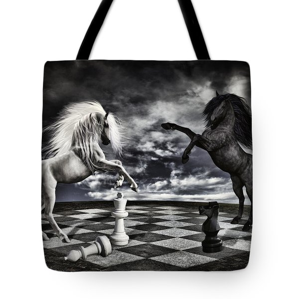 Chess Players Tote Bag by Mihaela Pater