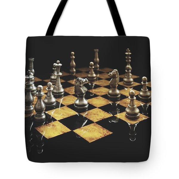 Chess The Art Game Tote Bag by Sheila Mcdonald