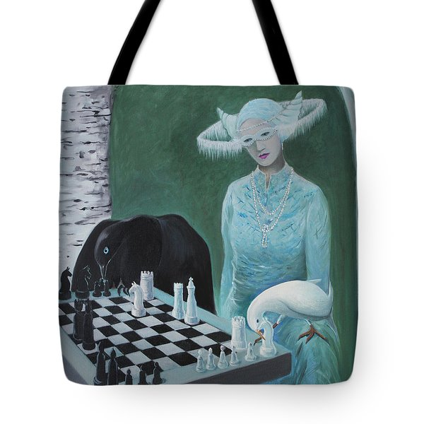 Chess - The Queen Waits Tote Bag by Tone Aanderaa