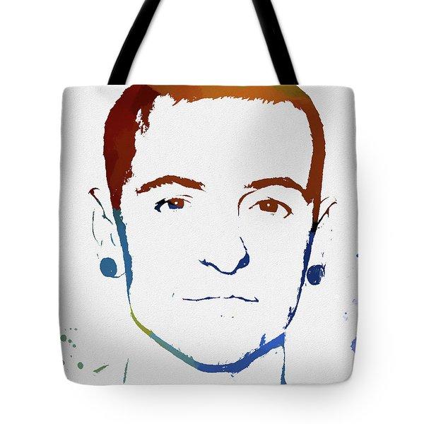 Chester Bennington Color Tribute Tote Bag