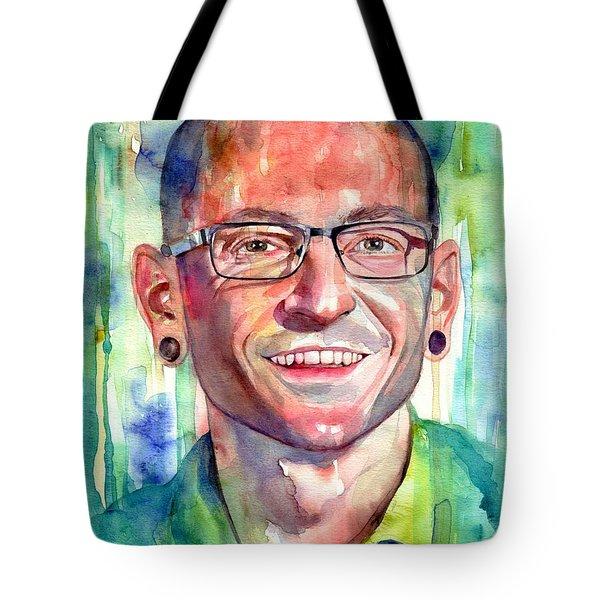 Chester Bennington Portrait Tote Bag