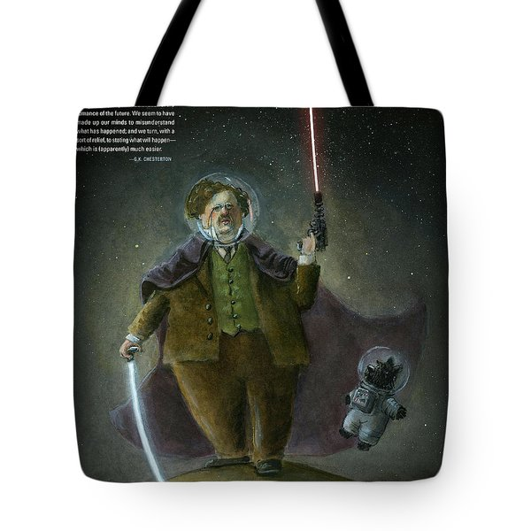 Chesterton In Space Tote Bag by Theodore Schluenderfritz