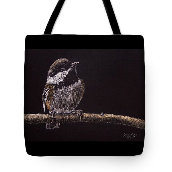 Chestnut Backed Chickadee Tote Bag