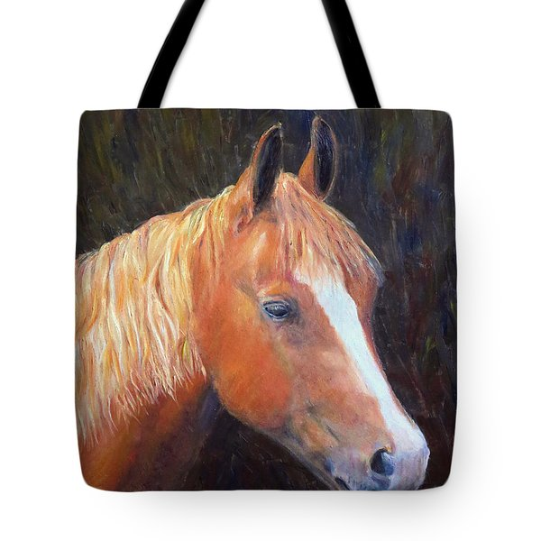 Tote Bag featuring the painting Chestnut by Elizabeth Lock