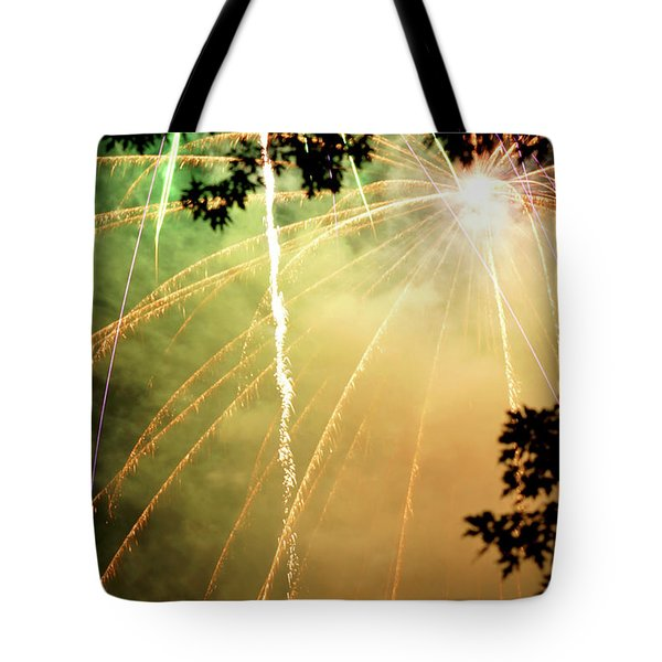 Chetola Yellow Fireworks Tote Bag by Meta Gatschenberger