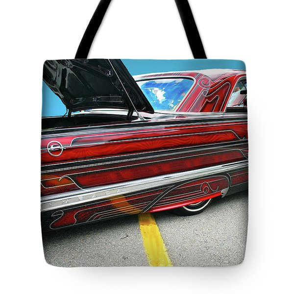 Tote Bag featuring the photograph Chev Impala 1 by Bill Thomson