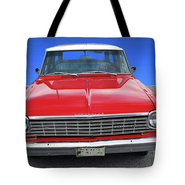 Tote Bag featuring the photograph Chev Wagon by Bill Thomson