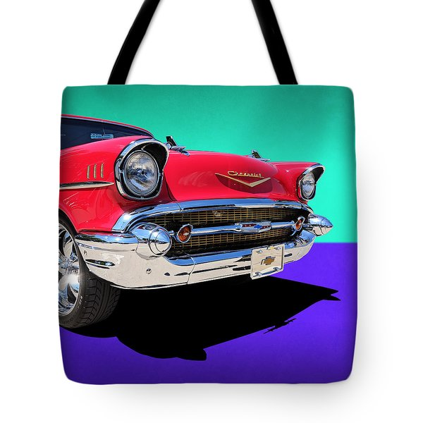 Chevrolet Bel Air Color Pop Tote Bag