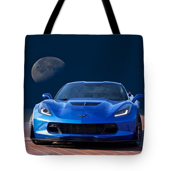 Chevrolet Corvette C7 'blue Moon' Tote Bag
