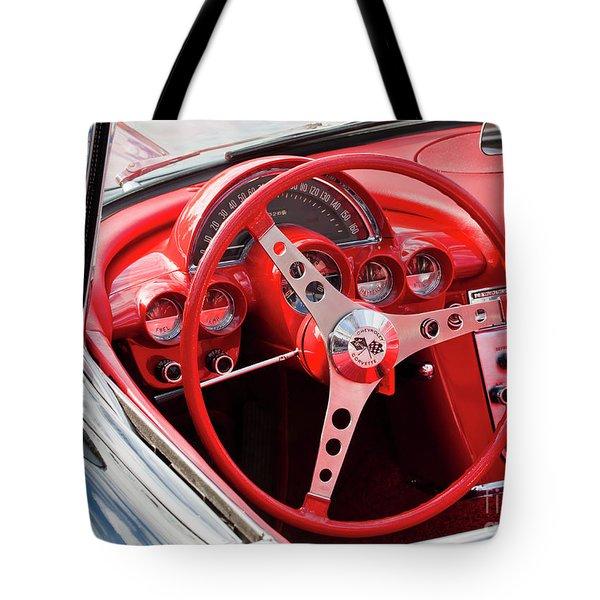Tote Bag featuring the photograph Chevrolet Corvette Dash by Chris Dutton