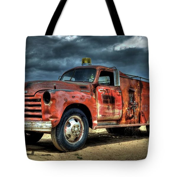 1948 Chevrolet Fire Truck Tote Bag