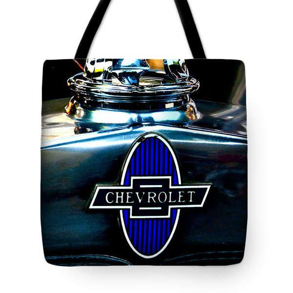 Chevrolet Hoodie Tote Bag by Gwyn Newcombe