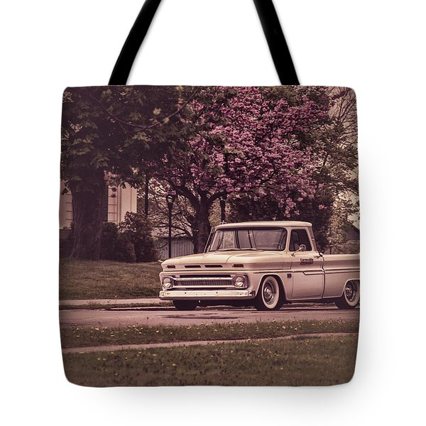 Chevrolet On The Streets Of Wolfville Tote Bag