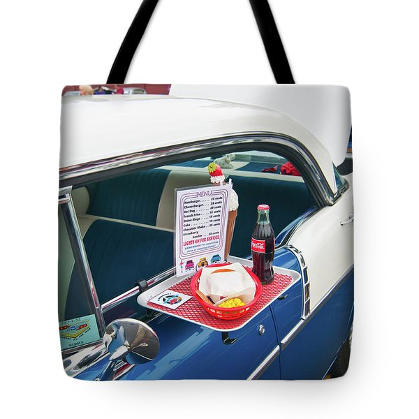 Chevy 2046 Tote Bag by Guy Whiteley