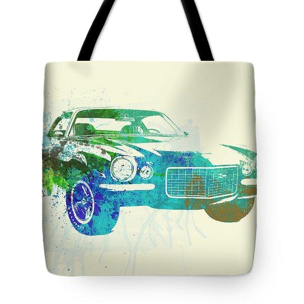 Chevy Camaro Watercolor Tote Bag