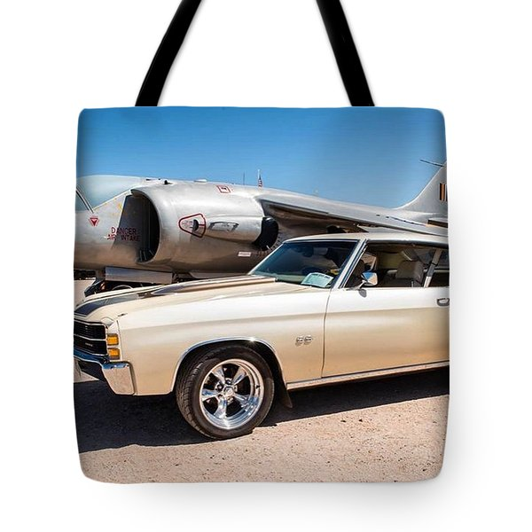 Chevy Chevelle At Pima Air And Space Tote Bag