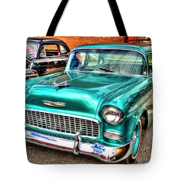 Chevy Cruising 55 Tote Bag