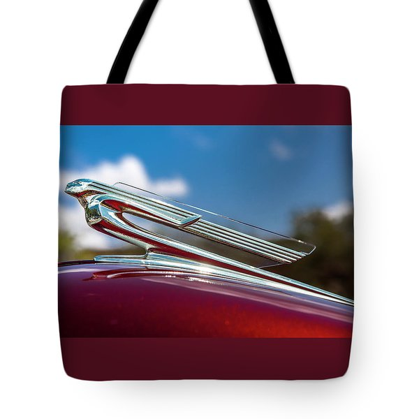 Tote Bag featuring the photograph Chevy Flying Lady by Melinda Ledsome