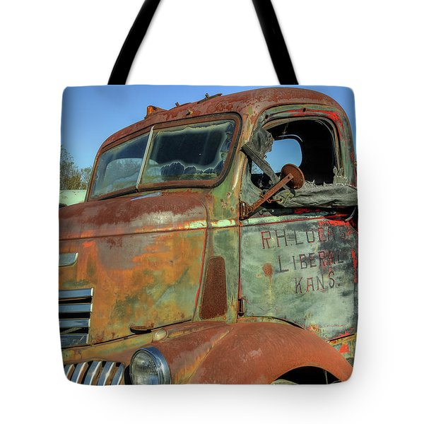 Tote Bag featuring the photograph Chevy From Liberal, Kansas by Jerry Gammon