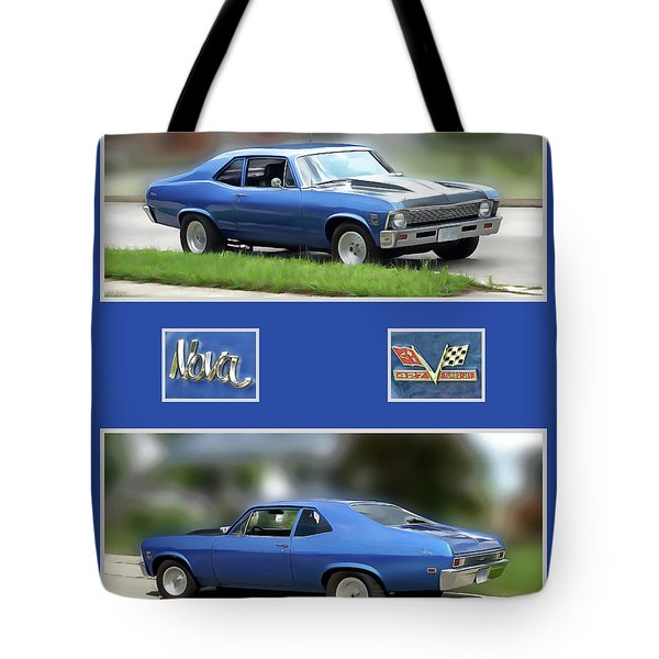 Chevy Nova Vertical  Tote Bag