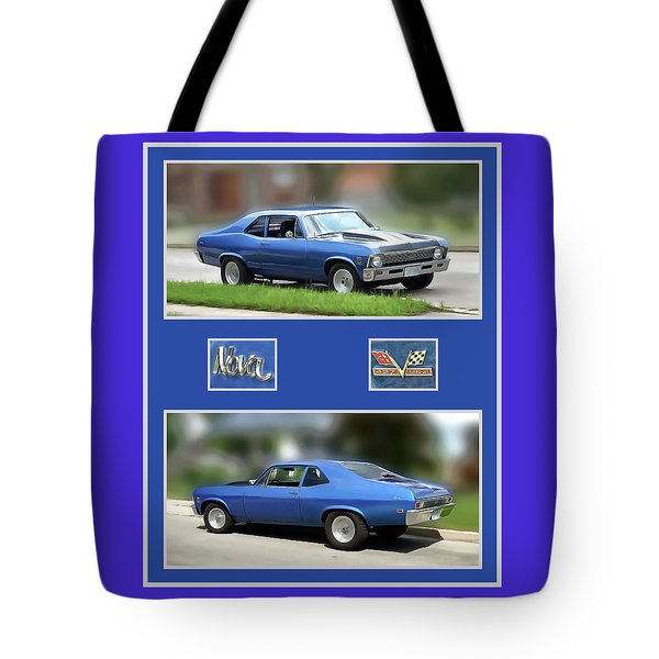 Chevy Nova Vertical  Tote Bag