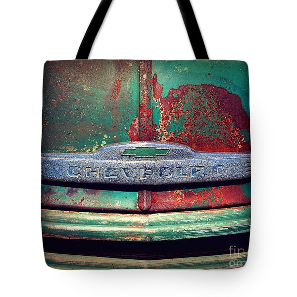 Chevy Rust Tote Bag by Perry Webster