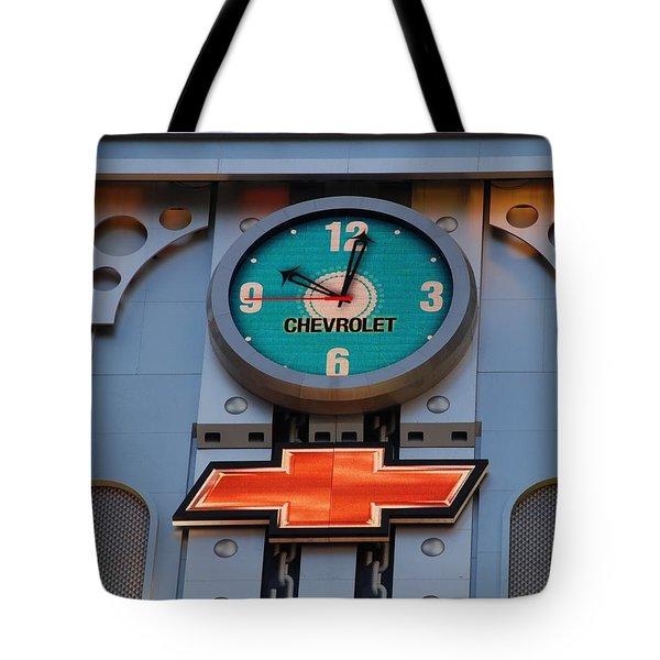 Chevy Times Square Clock Tote Bag by Rob Hans