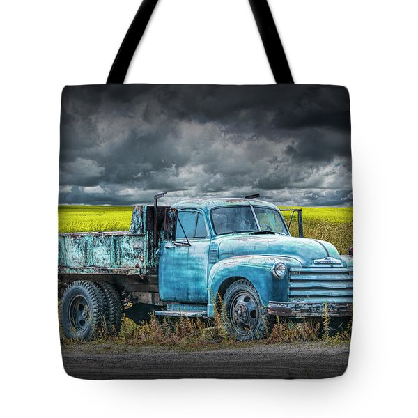 Chevy Truck Stranded By The Side Of The Road Tote Bag