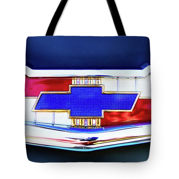 Chevy's Fifties Bowtie Tote Bag
