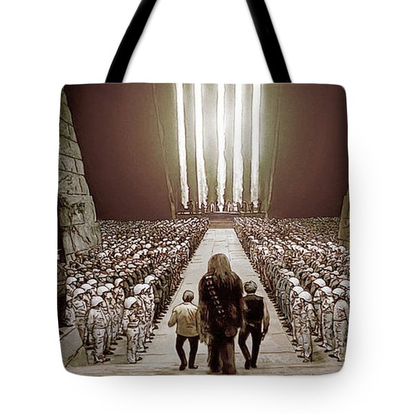 Chewbacca's March To Disappointment Tote Bag by Kurt Ramschissel