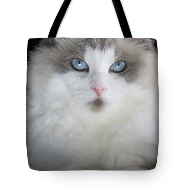 Tote Bag featuring the digital art Chewie by Kathleen Illes