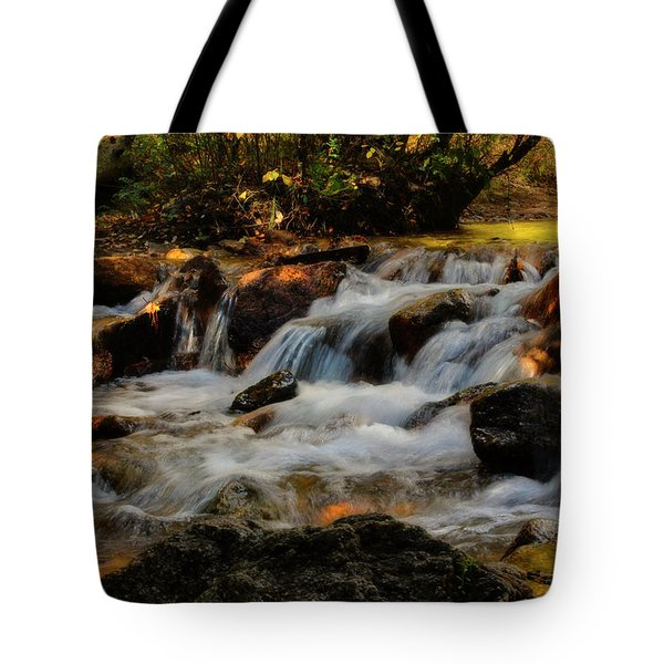 Tote Bag featuring the photograph Cheyenne Canyon Autumn by Ellen Heaverlo