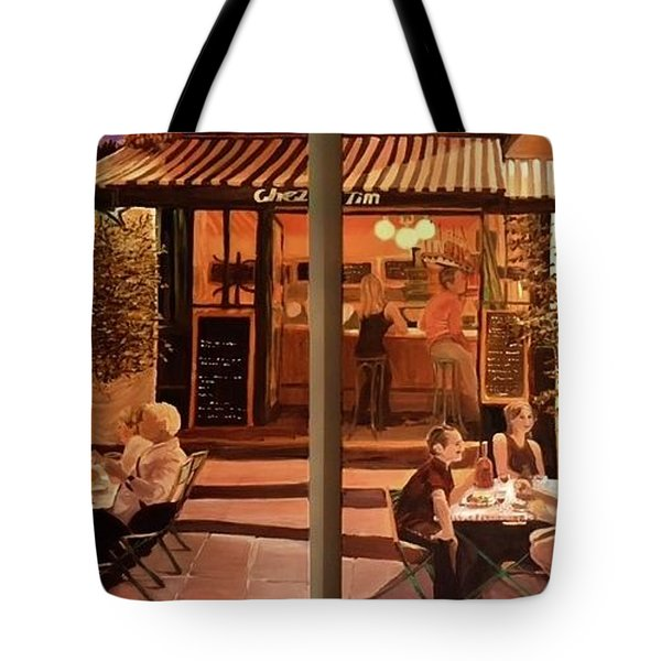 Chez Tim Tote Bag by Julie Todd-Cundiff