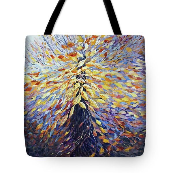 Tote Bag featuring the painting Chi Of The Mighty Tree by Joanne Smoley