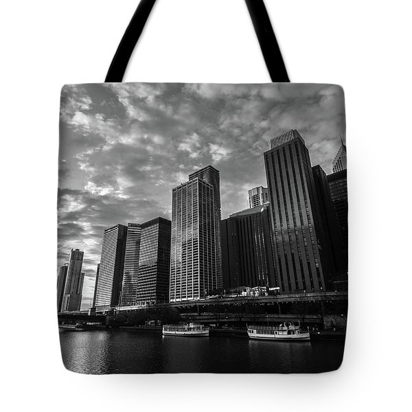 Chi Sunrise Black And White Tote Bag