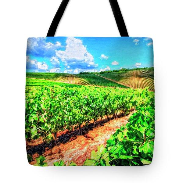Chianti Vineyard In Tuscany Tote Bag by Dominic Piperata