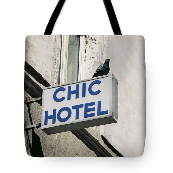 Chic Hotel Tote Bag