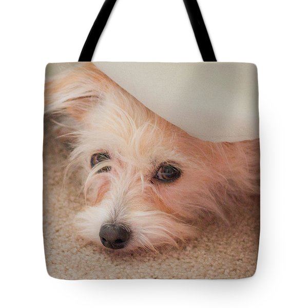 Chica In Hiding Tote Bag