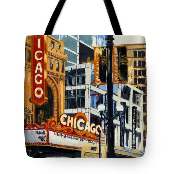 Chicago - The Chicago Theater Tote Bag