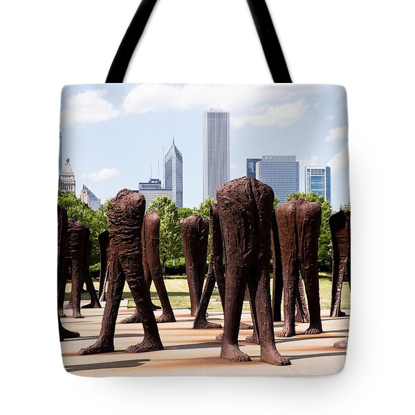 Chicago Agora Headless Statues Tote Bag by Paul Velgos