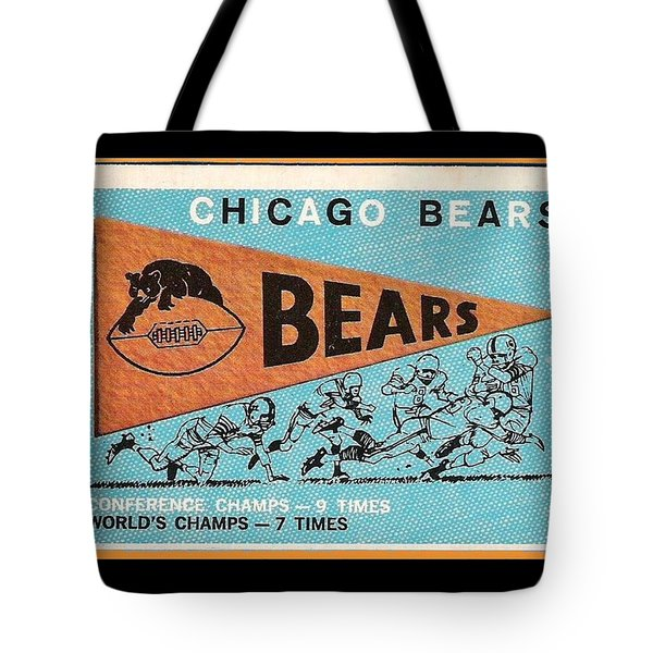 Chicago Bears 1959 Pennant Card Tote Bag