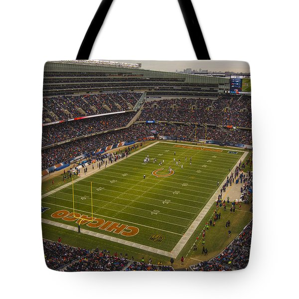Chicago Bears Soldier Field 7795 Tote Bag