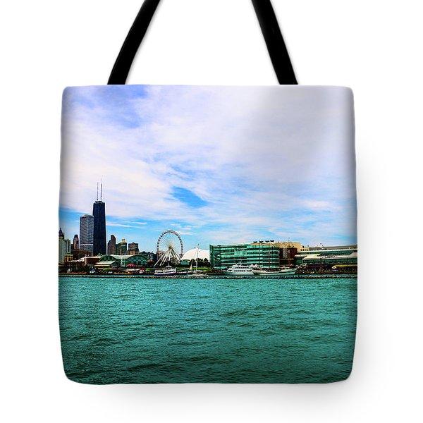 Chicago Blue Tote Bag