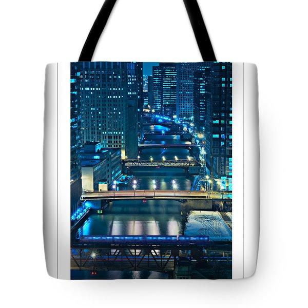 Chicago Bridges Poster Tote Bag by Steve Gadomski
