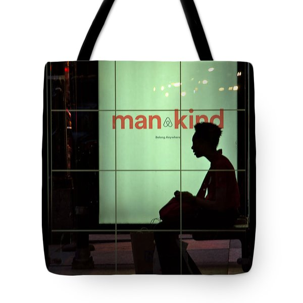 Chicago Bus Stop Tote Bag